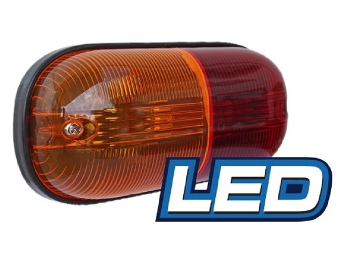 LED Clearance Trailer Lamp 12v 3 Amber & 2 Red LED Lights 50000 Hrs 110mm x 60mm