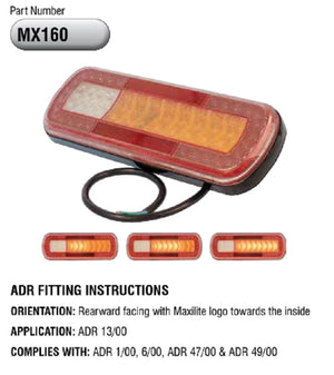 Maxilite LED Tail Light with Stop Tail Sequential Indicator Reflector & Fog 10-30v IP67