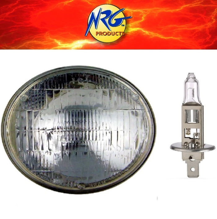 "Semi Sealed Beam Head Light 5 3/4"" 146mm High Beam with H1 55w Halogen Globe"
