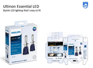 Philips HIR2 Ultinon Essential LED Headlight Bulbs 6000K 12v 16W High Low Beam