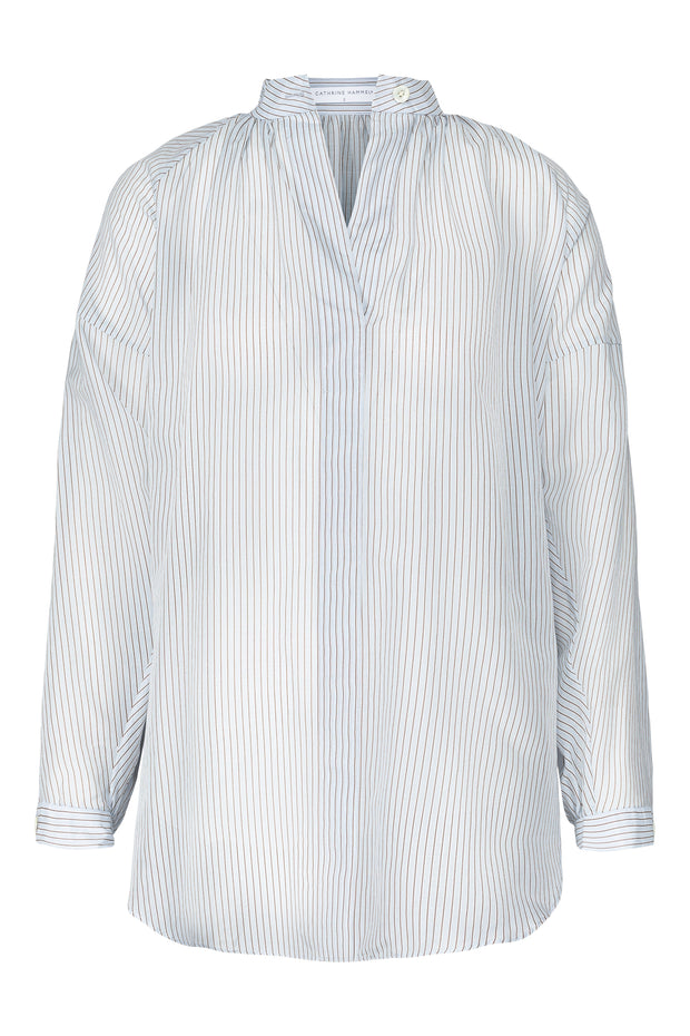 Blå Striped sheer poem shirt