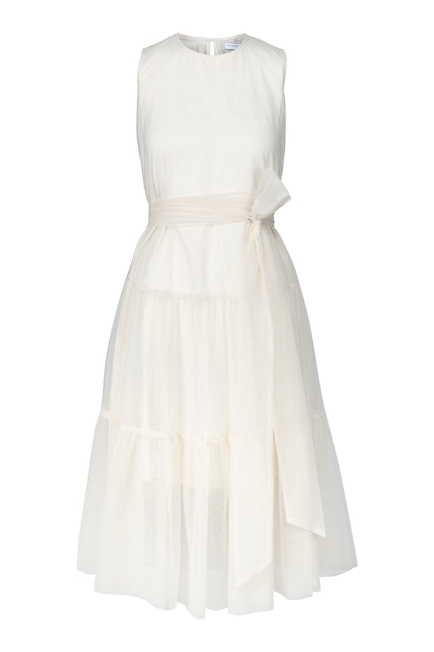 Offwhite Peplum tulle dress