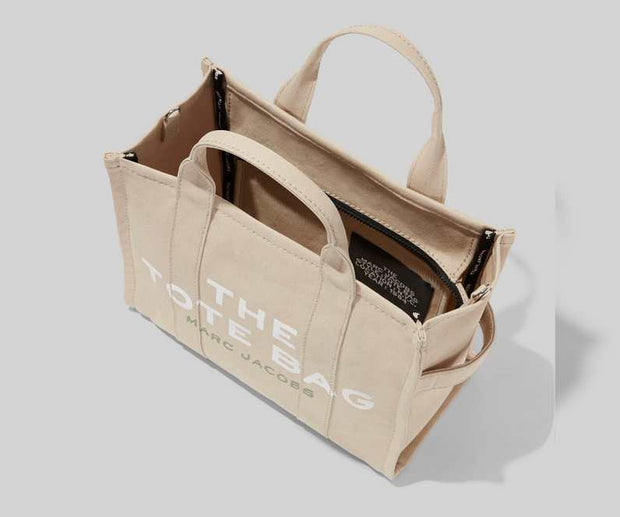 Beige Small Traveler Tote