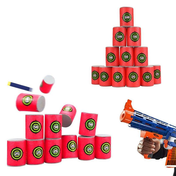 6 OR 12 Foam Cup Targets for Nerf or any Non-Foam-Pnetrating Projectiles