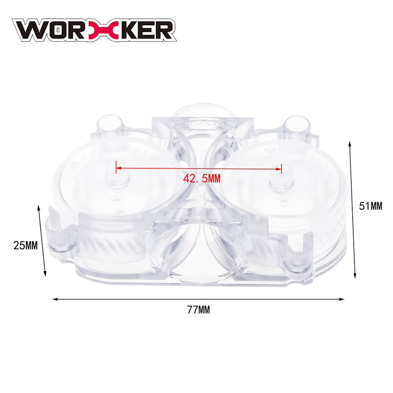 Worker 425 /435 Plastic Clear Twill Flywheels and Cage