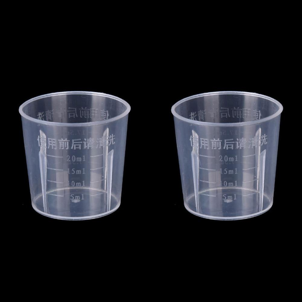 1PC Clear Plastic Graduated Measuring Cup for Baking Beaker Liquid Measure JugCup Container 15ml / 30ml /50ml /250ml /500ml