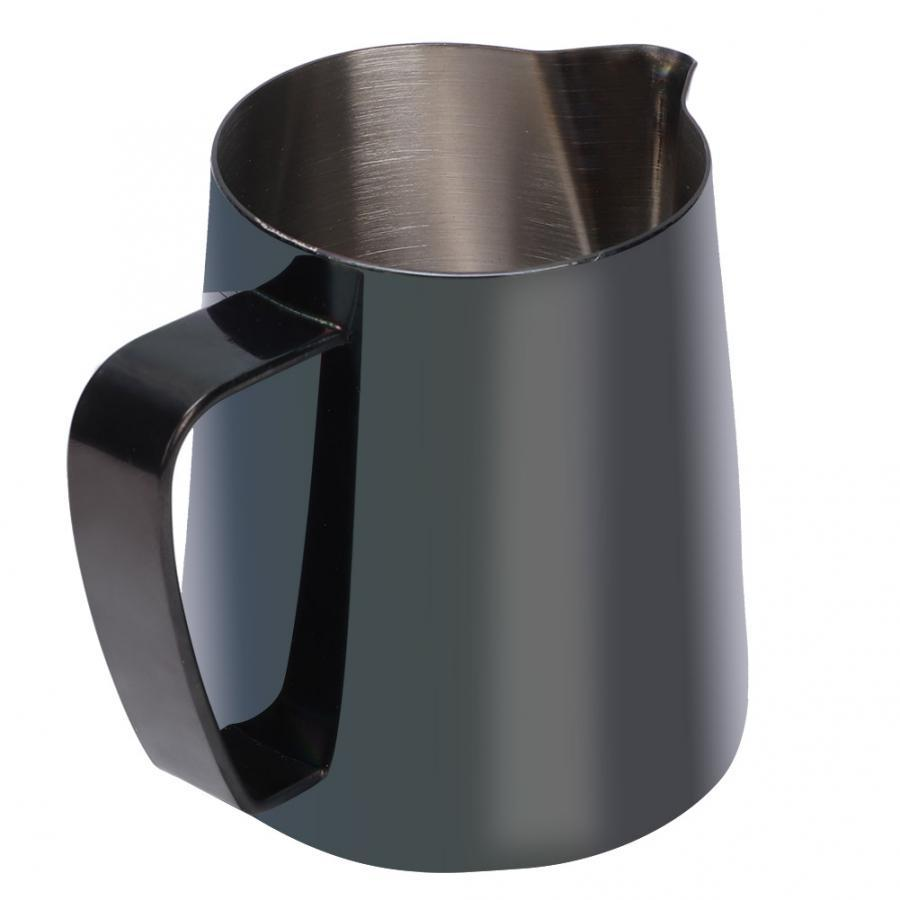 350ml Stainless Steel Milk Frothing Cup Coffee Pitcher Milk Jug Black Colorful Cup for Latte Art  Kitchen Coffee Accessories