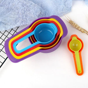 4Pcs/8pcs Multi Purpose Spoons Cup Measuring silicone Tools PP Baking Accessories Stainless Steel/Plastic Handle Kitchen Gadgets