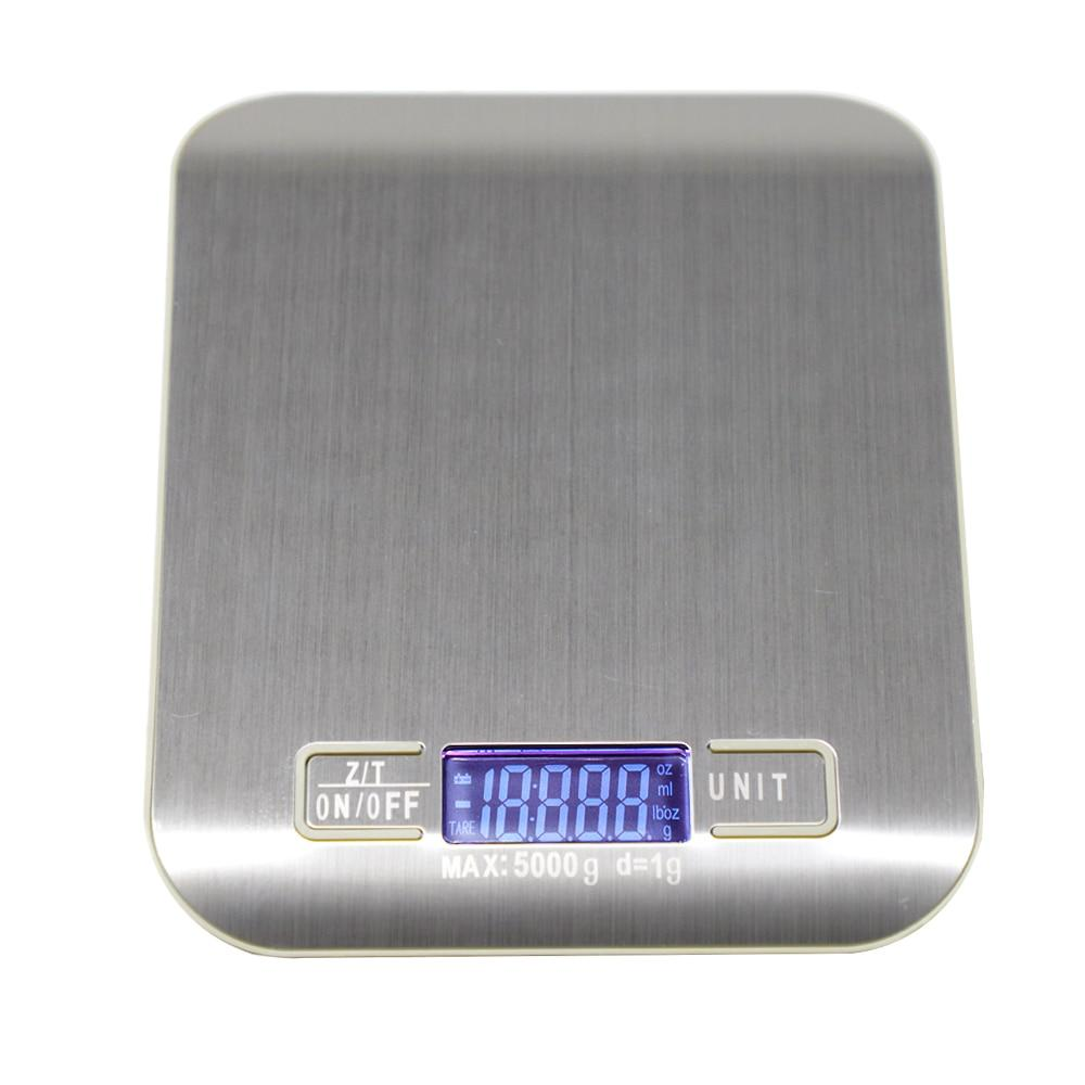 5/10kg Household Kitchen Scale Electronic Food Scales Diet Scales Measuring Tool Slim LCD Digital Electronic Weighing Scale XNC