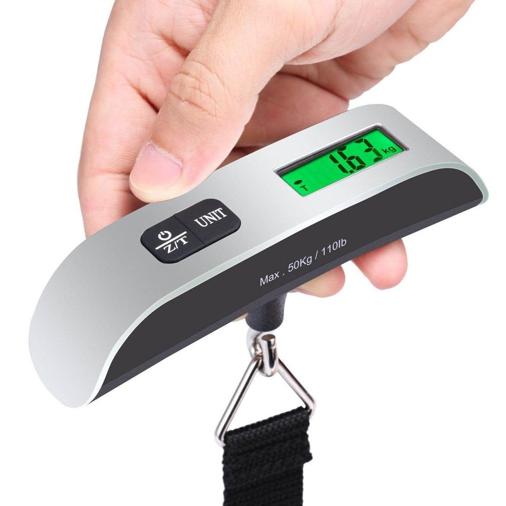 50kg X 10g Digital Luggage Scale Portable Electronic Scale Weight Balance Suitcase Travel Hanging Steelyard Hook Scale #T2P