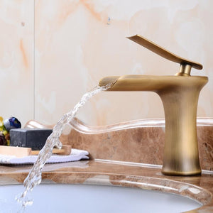 Basin Faucet Bathroom Sink Gold Faucet Single Handle Hole Faucet Basin Taps  Wash Hot Cold Mixer Tap Crane Grifo Lavabo