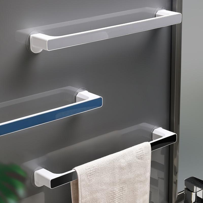Bathroom Towel Storage Rack Toilet Perforated Towel Towel Storage Rack Wall-Mounted Bathroom Hook Kitchen Wipes Hanging Gadgets