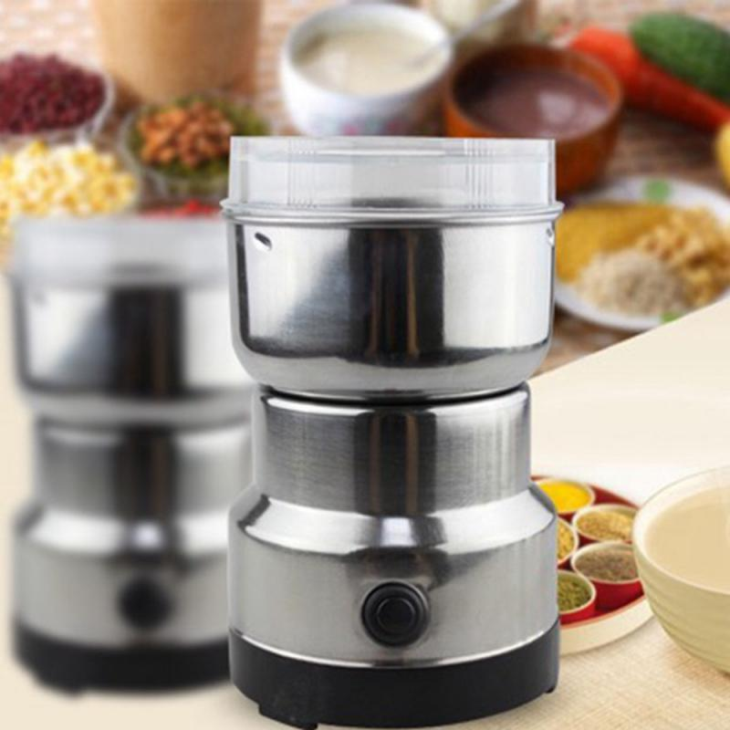 Coffee Grinder Electric Mini Coffee Bean Nut Grinder Coffee Beans Multifunctional Home Coffe Machine Kitchen Tool EU Plug