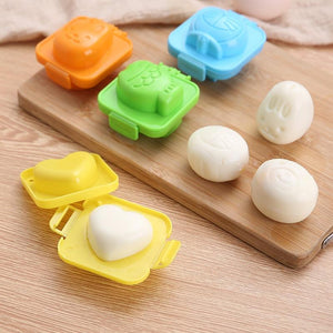 Egg mold Cute Cartoon Baby Rice Ball Mold 3D Egg Ring Bento Accessories Rabbit Bear Fish Egg Decorating Tool Kitchen Gadgets