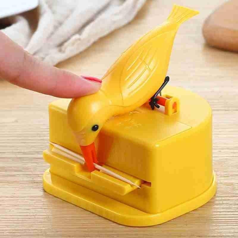 New Small Bird Toothpick Container Automatic Toothpick Dispenser Toothpick Holder Home Decoration Kitchen Accessories