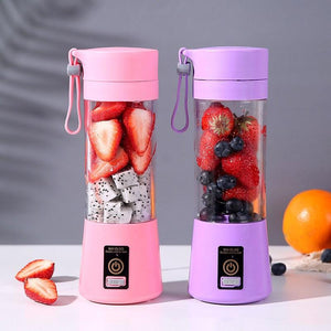 Portable Home USB Rechargeable 6-Blade Electric Fruit Extractor Juice Blender Machine Sports Bottle Juicing Cup Kitchen Tools