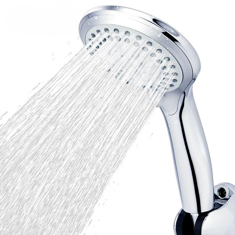 5 modes ABS plastic Bathroom shower head big panel round Chrome rain head Water saver Classic design G1/2 rain showerhead