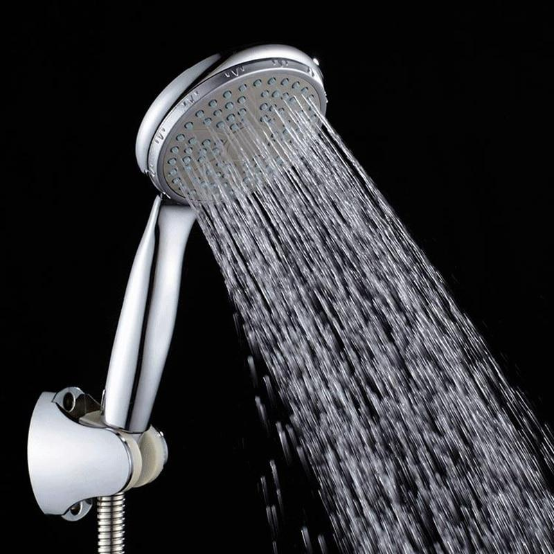 ABS Plastic Bathroom Shower Head Big Panel Round Chrome Rain Head Water Saver Classic Design G1/2 Rain Shower Head SP045