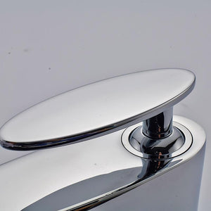 Basin Faucets Hot and Cold Bathroom Faucet Water Basin Mixer Tap Chrome Single Handle Basin Water Sink Mixer Tap