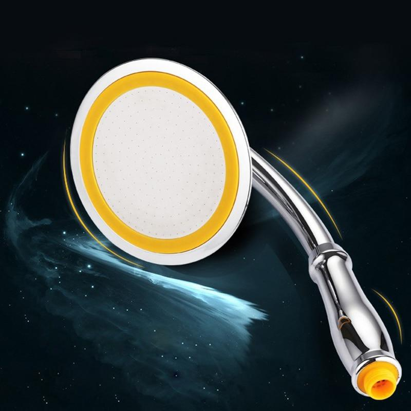 Rotate 360 Degree ABS Chrome Bathroom Rainfall Shower Head Water Saving Extension Arm Hand Held Shower Head With Hose