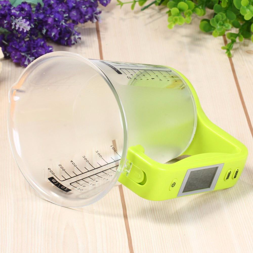 Scale with LCD Display Temperature Large Capacity Measuring Cup Kitchen Scale Digital Beaker Electronic Measuring CupTool