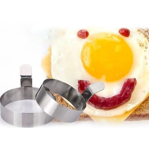 Stainless Steel Egg Mold 7.5/9cm Fried Egg Ring Pancake Mould Egg Mold Cooking Kitchen Accessories Gadget Tool 2 Sizes