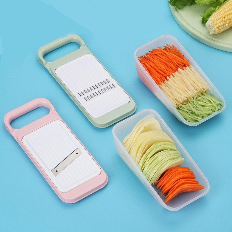 Multifunctional  Cutter Grater With Stainless Steel Blade Potato Carrot Slicer Shredder Kitchen Accessories