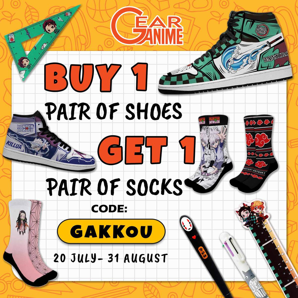 Gear Anime - Back To School Promotion