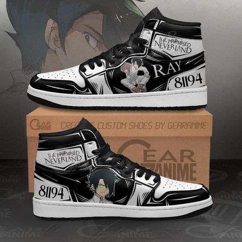 Ray The Promised Neverland Sneakers Custom Anime Shoes