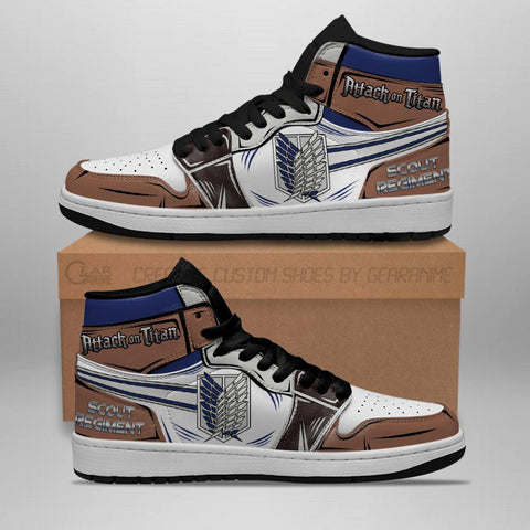 Scout Regiment Sneakers Attack On Titan Anime Sneakers