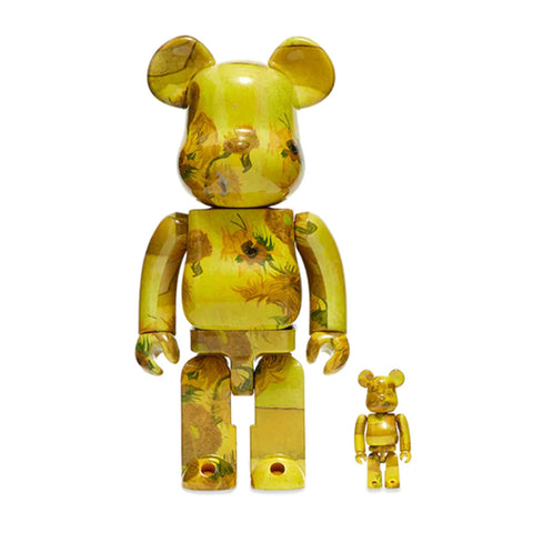 MEDICOM TOY, BE@RBRICK Van Gogh Museum Sunflowers 100% & 400% SET.