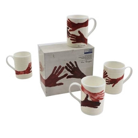 Louise Bourgeois, Red Hands Mug Set.