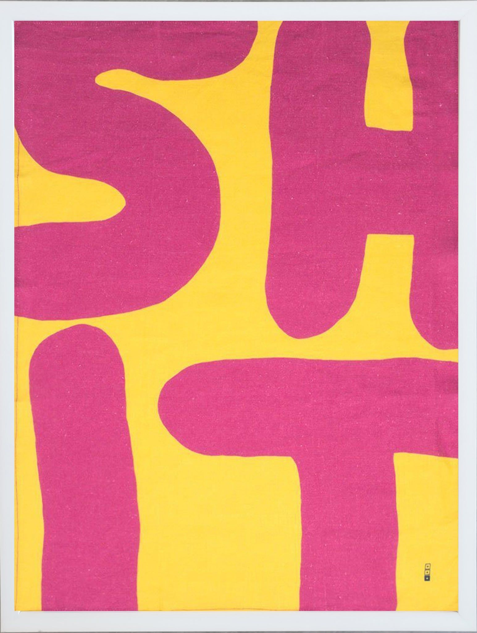 David Shrigley, Shit Print on Linen (Framed).
