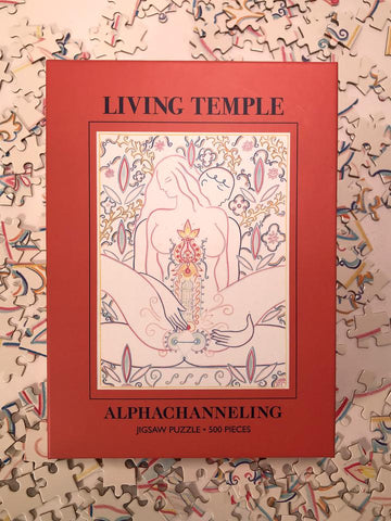 Living Temple, Jigsaw 500-Pieces Puzzle by Alphachanneling.