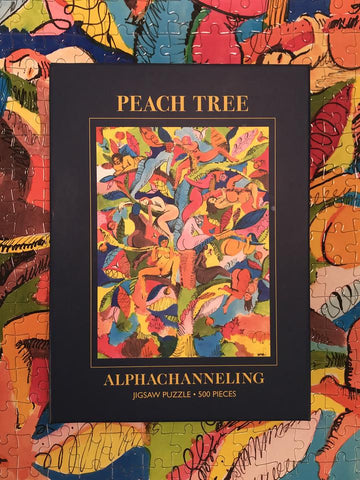 Peach Tree, Jigsaw 500-Pieces Puzzle by Alphachanneling.