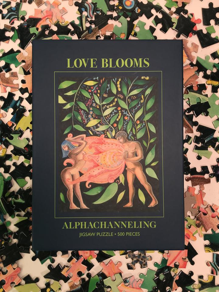 Love Blooms, Jigsaw 500-Pieces Puzzle by Alphachanneling.