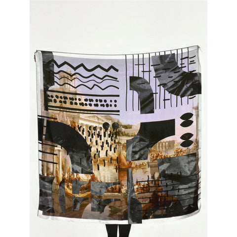 FUTURES PAST, Empire Silk Carré Scarf.