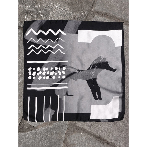 FUTURES PAST, Horse Silk Pochette.