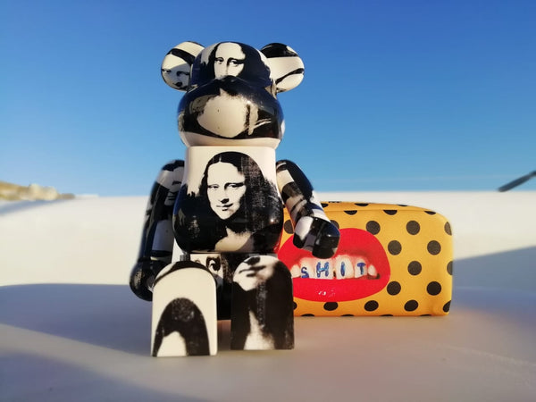 MEDICOM TOY, BE@RBRICK ANDY WARHOL Double Mona Lisa 100% & 400% SET.