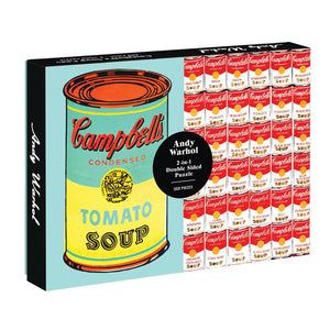 Andy Warhol Soup Can 2-Sided 500-Piece Puzzle.