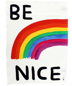 David Shrigley, Be Nice Tea Towel.
