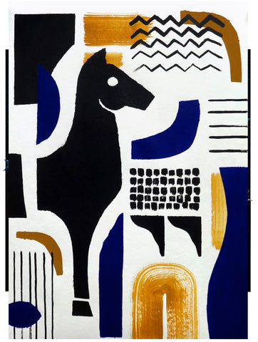 FUTURES PAST, Untitled (Horse), Acrylic Painting.
