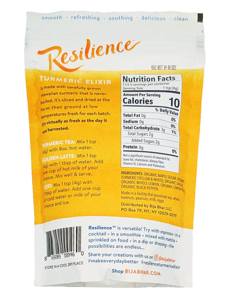 Resilience Turmeric Elixir 16 oz #resiliencerequired Pouch