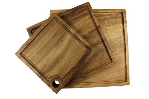 Acacia Square Serving Boards - Set of 3