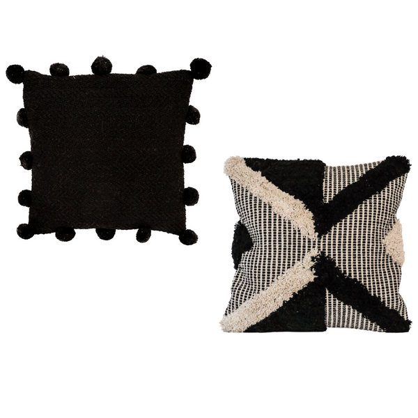 Black & Natural Cushion Set