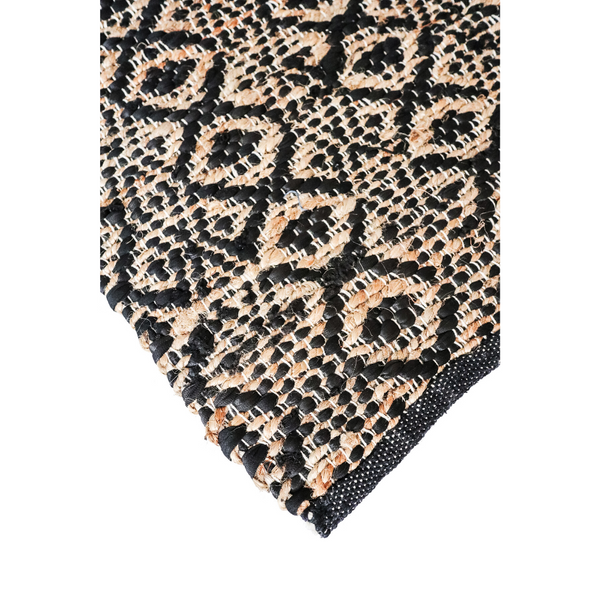 Cotton & Jute Rug - Black