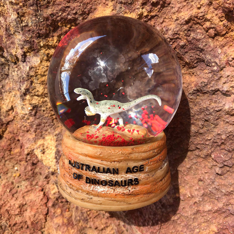 Australovenator snow globe