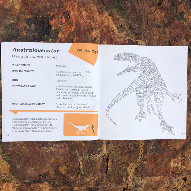 Prehistoric Australia: Animals to colour and facts to discover