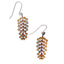 Holly Grevillea earrings (brass)