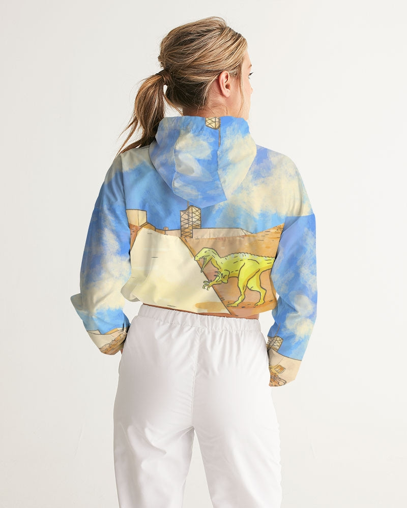 Stylised Winton cropped windbreaker